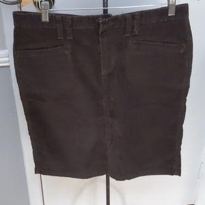 Old Navy Brown Corduroy Mini Skirt